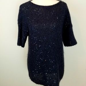 Ann Taylor Sequin Sweater L